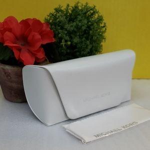 MK eyewear case with microfiber cleaning cloth
